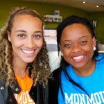 Photo of two MU students in London England - Click to view larger image
