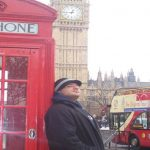 Photo of MU student near Big Ben in London England - Click to view larger image