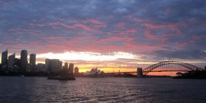 Click to View Image for Monmouth University Study Abroad Sunset in Sydney, Australia 2005
