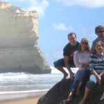 Photo of MU students on beach in Australia 2010 - Click to view larger image