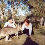 Photo of MU students with kangaroo in Australia 2012 - Click to view larger image
