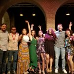 Photo of MU student group enjoying festivities in Spain Summer 2018 - Click to view larger image