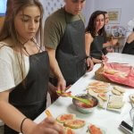 Photo of MU students taking cooking class in Cadiz Spain Summer 2018 - Click to view larger image