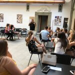 Photo of MU students in class in Italy Summer 2018 - Click to view larger image