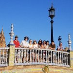 Photo of MU student group on bridge in Cadiz Spain Summer 2018 - Click to view larger image