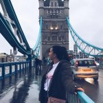 Photo of MU student on Tower Bridge London England - Click to view larger image