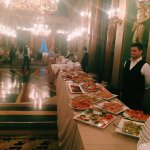 Photo of buffet feast in Italy - Click to view larger image