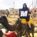 Photo of MU student on camel in Morocco - Click to view larger image