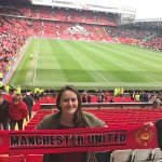 Photo of MU student at Manchester Uniited soccer match - Click to view larger image