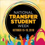 National Transfer Student Week, Oct 15-19 2018