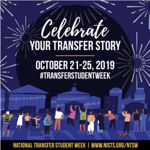 Image celebrating National Transfer Student Week, October 21-25, 2019