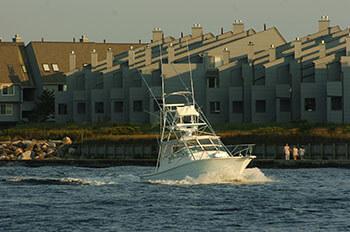 boat at inlet