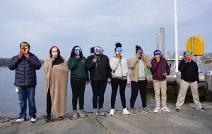 Photo of MU students wearing Eco Self masks