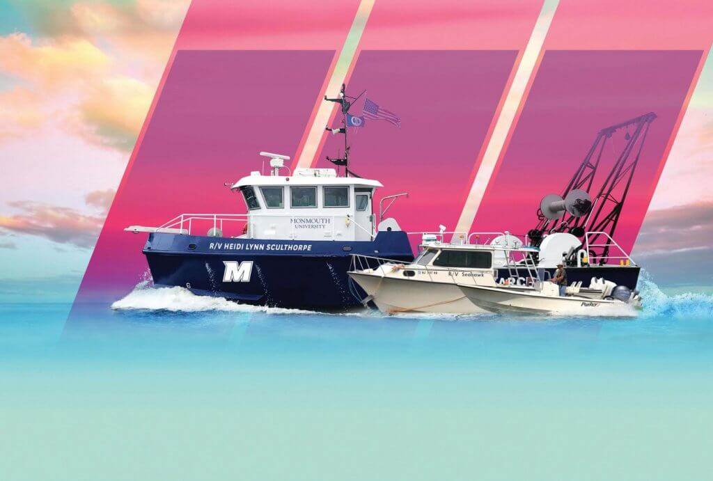 Artwork for Monmouth Magazine article on research vessels