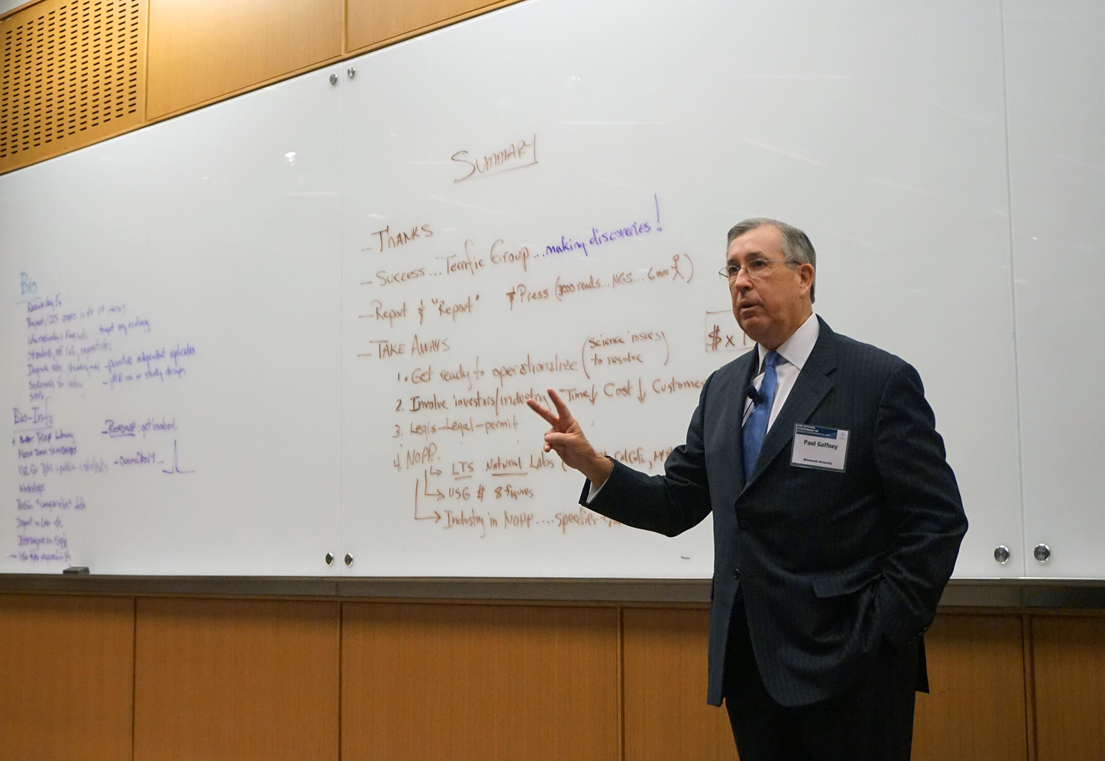 Former Monmouth University President Paul Gaffney speaks at National Conference on Marine Environmental DNA