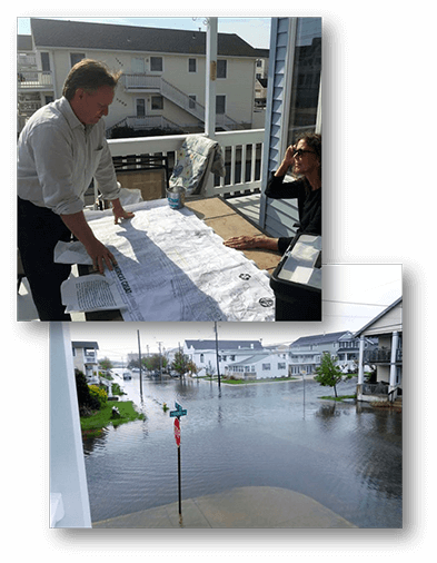UCI Associate Director Tom Herrington shared his experience working with community members to find solutions for chronic nuisance flooding in Ocean City, NJ