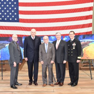 Photo of Paul Gaffney's Induction into Naval Oceanography Hall of Fame