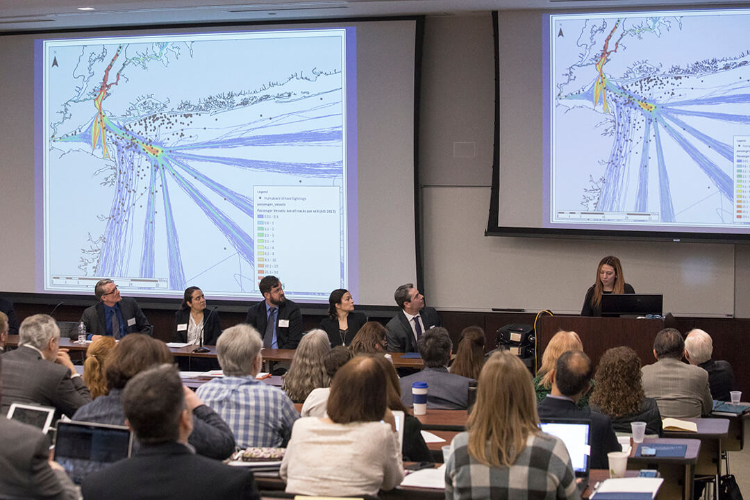Photo of audience attending first Mid-Atlantic Ocean Forum held at Monmouth University