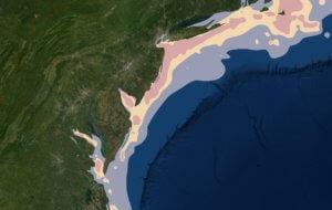 Photo of coastal map